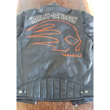 Jaqueta Couro Harley Davidson Skull Racing