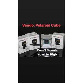 Polaroid Cube + 3 Mounts + Cartão Sd 16gb