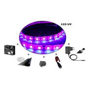 Kit 9 Led Ultravioleta Fita+fonte+fan+conectores-monta Facil