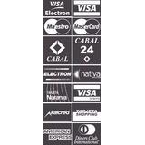 Vinilo Vidriera Tarjeta De Credito 8x12cm, Visa Master Cabal