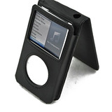 Funda De Cuero Negro Para Apple Ipod Classic 80gb / 120gb /
