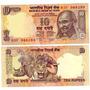 Billete India Ghandi Elefante Tigre Rinoceronte 10 Rupias