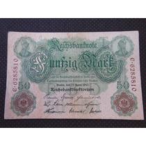 1994 - Antiga Cédula Da Alemanha 50 Mark 1910 Mbc+