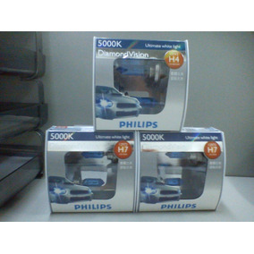 Lâmpada Diamond Vision Philips Super Branca H4 H7