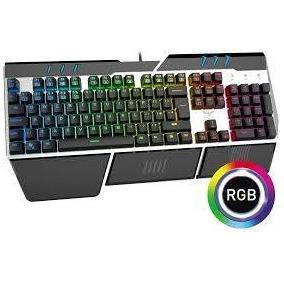 Teclado Gamer Mecanico Rgb Retroilum Havit Español