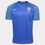 Camisa Do Brasil Azul Camiseta Seleção Brasileira Original