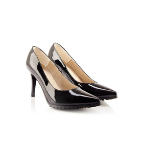 Stilettos De Mujer Lazaro Dallas Charol Negro