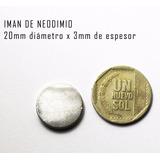Imanes De Neodimio 20x3mm Pack De 2 Unidades Super Potentes