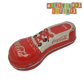 Coca Cola Antigo Estojo Em Lata Formato De Tênis