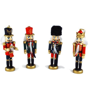 Ornate Nutcracker Soldiers Hand-painted Hanging Christmas Or