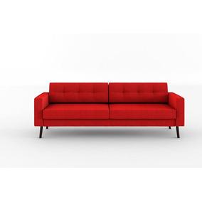 Sofá Novo Modelo Lançamento Confortável Living 3 Lugares