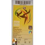Entrada Mundial Sudafrica 2010 - Argentina - Corea Del Sur