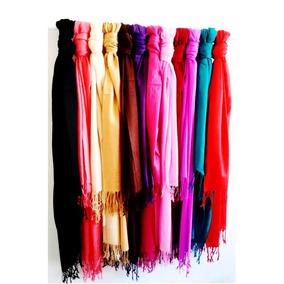 Chalinas Pashminas De Barbas Surtidas De Colores $29.99 C/u
