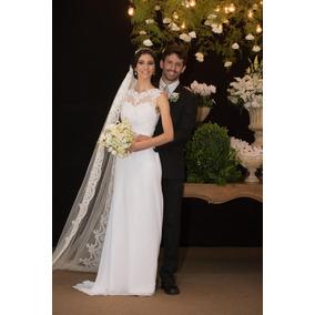 Vestido De Noiva Modelo A-line Com Bordado