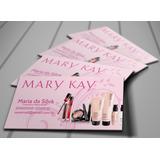 1000 Cartões De Visita Mary Kay Impressão Frente 4x0