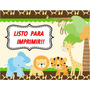 Kit Imprimible Safari Animalitos Selva Listo Para Imprimir