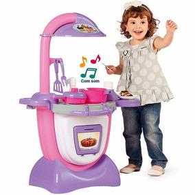 Cozinha Infantil Sonho De Cozinha Rosa Com Som - Calesita