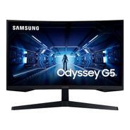 Monitor Curvo Gamer Samsung 27 Odyssey G5 Wqhd Hdmi Dpi Usb