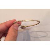 Pulseira Bracelete De Couro Feminino De Ouro 18k 750