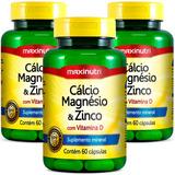 Cálcio Magnésio & Zinco - Maxinutri - 3x60 Cápsulas