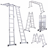 Escalera Multiposiciones 8 Posiciones Trabajo Aluminio