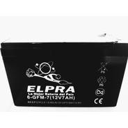 Batería De Gel Elpra 12v 7ah Alarmas Juguetes Ups