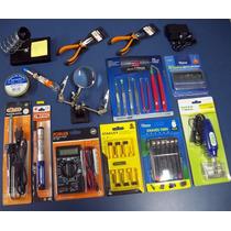 Kit Multímetro Solda E Eletrônica E Chaves Torx Para Celular
