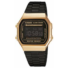 Reloj Casio A168wegb-1b Vintage Clásico Correa De Acero