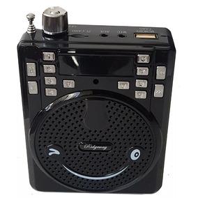 Megafono Microfono Diadema Usb Radio Fm Bocina Portatil /e