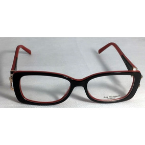 5750132f550eb Oculos Ana Hickmann Vermelho - Óculos Preto no Mercado Livre Brasil