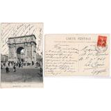 Francia 1908 Postal Arco De Triunfo De Marsella