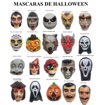 Mascaras De Halloween (lote De 100 Pzas) Varios Modelos