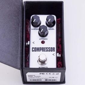 Mini Pedal Kokko Compressor Sustain Guitarra Baixo Novo