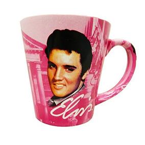 Elvis Presley Graceland El Rey Rosa W / Guitarras Taza De C