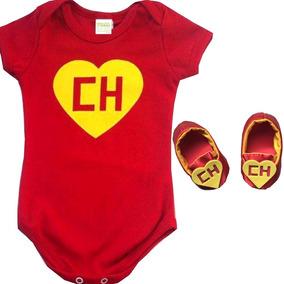 Conjunto Body Fantasia Chapolin Mesversario Bebê Chaves