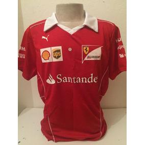 Camiseta Camisa Ferrari Santander Gola V Masculina Promoção