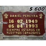 Placa Para Cementerio/nicho - Madera