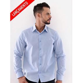 5afb2f5a16 Camisa Social Ml Azul Carbono - Camisa Social Manga Longa Masculinas ...