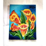 Quadro Flores Copo De Leite + Brinde