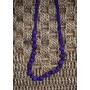 Yolo#119 - Collares De Tela Con Bolitas Recubiertas (violeta