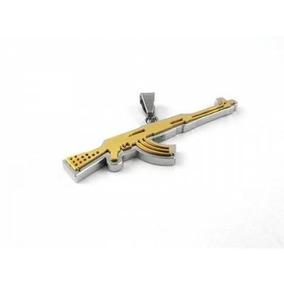 Dije De Acero Inoxidable Diseño Arma Ak47