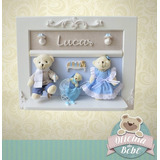 Família Urso Luxo Maternidade Bebê Menino Ursinho Quadro