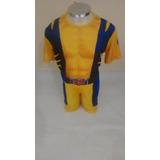 Fantasia Infantil Do Wolverine + Mascara + Garras Em Eva