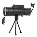 Telescopio Monocular Hd C/visión Nocturna Y Clip P/teléfono