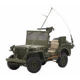 Jeep Willys Mb Minguerra Militar Autoart Esc 1/18 Ref 74006