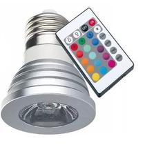 Lâmpada Led 3w Rgb 16 Cores + Controle 24 Funções E27