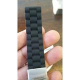 Correa Silicona Negra 20mm 22mm Con Broche Acero