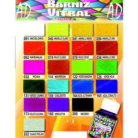 Barniz Vitral Ad X 20un Pintura Color Transparente P Vidrio
