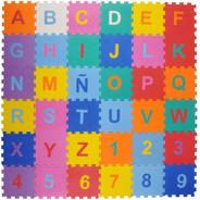 Piso Goma Eva  X 36  Letras Y Números 10mm Play Floor