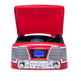 Toca Discos Ctx Raveo Harmony Vermelho Lp/cd/usb/bluetooth